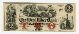 1800 ' S $2 The West River Bank - Jamaica,  Vermont Note Cu photo