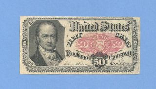 Fr 1380 Fifth Issue 50 Cents William Crawford Fractional Currency About Unc photo