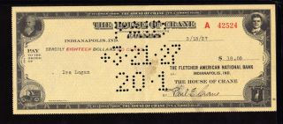 1927 The House Of Crane - Indianapolis,  Indiana photo