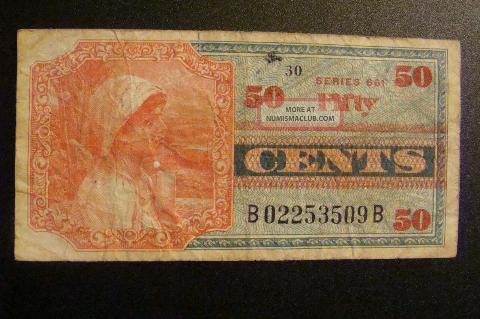 Military Payment Certificate 50 Cents Series 661 Paper Money: US photo