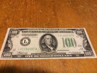 100.  00 Bill 1934 San Fran photo