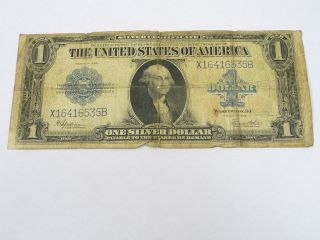1923 Series Blue Seal $1 George Washington Dc United States Note - photo
