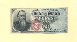 Fr 1376 - Fifty Cents 4 Th Issue Fractional Currency Extra Fine photo