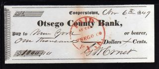 1849 Otsego County Bank - Cooperstown,  N.  Y. photo