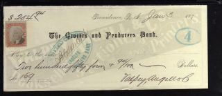 1874 - The Grocers & Producers Bank - (black) - Providence,  R.  I. photo