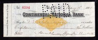 1900 Hornblower,  Byrne,  Miller & Potter - Continental National Bank - York photo