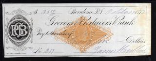1877 - Grocers & Producers Bank - (black) - Providence,  R.  I.  C/w Revenue photo