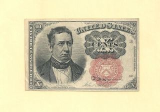 Fr 1266 - Ten Cents 5th Issue Fractional Currency Almost Uncirculated photo