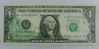 $1 1985 Cleveland Frn Offset Printing Error - Error Note - Unc photo