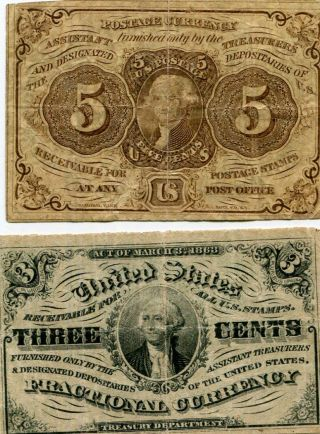 Docs (2) Piece Fractional Currency Offering - Tough Issues In Circulated Nr photo