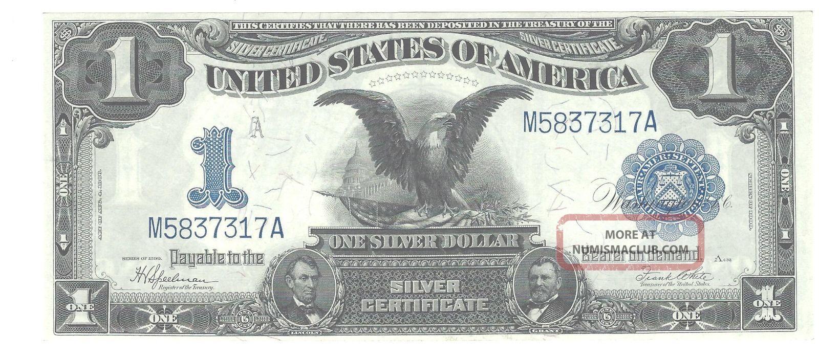 1899 Fr - 236 $1 Silver Certificate,  Gem Crisp Uncirculated Large Size Notes photo