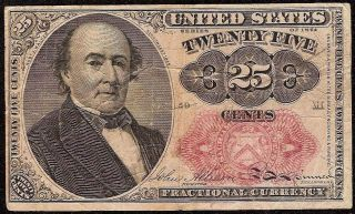 Series 1874 Fractional Currency 25 Cent Walker Note Old Paper Money Fr 1309 photo