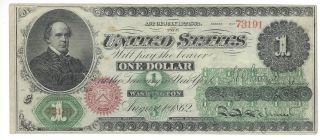 Fr - 16 1862 $1 Legal Tender,  Crisp Uncirculated photo