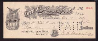 1904 German Savings Bank - Chester,  Iowa photo