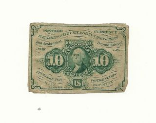 U.  S.  Fractional Note 10 Cents 1862