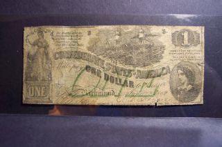 , 2 June 1862,  Confederate $1.  00 T - 45;