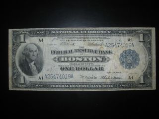 1918 $1 Large National Currency Note Circulated