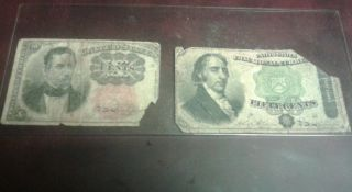 10 And 50 Cent Us Fractional Currency.  3 Days Only photo