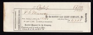 1867 The Boston Gas Light Company - Boston,  Mass photo