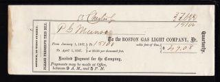 1867 The Boston Gas Light Company - Boston,  Mass photo