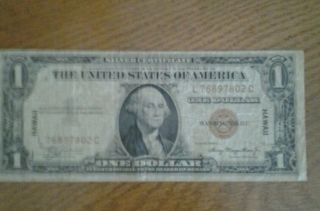 Hawaii Star Note 1935a $1 Silver Certificate / Wwii Currency photo