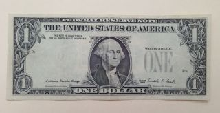 Series 1988 $1 Missing Seals And Serial S Error Note photo