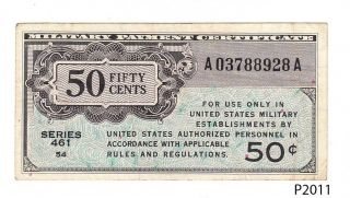 U.  S.  Military Payment Certificate 50 Cents Series 461 (p2011) photo