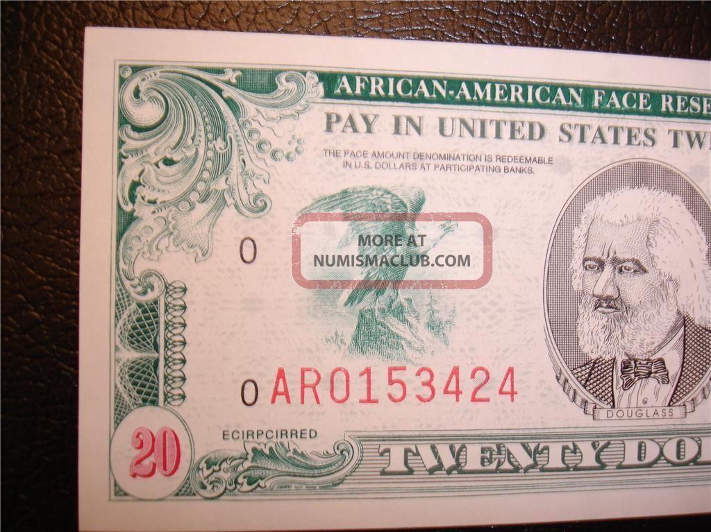 $20 Afro American - Rare,  Unique Scrip Note - Collectable Paper Money: US photo