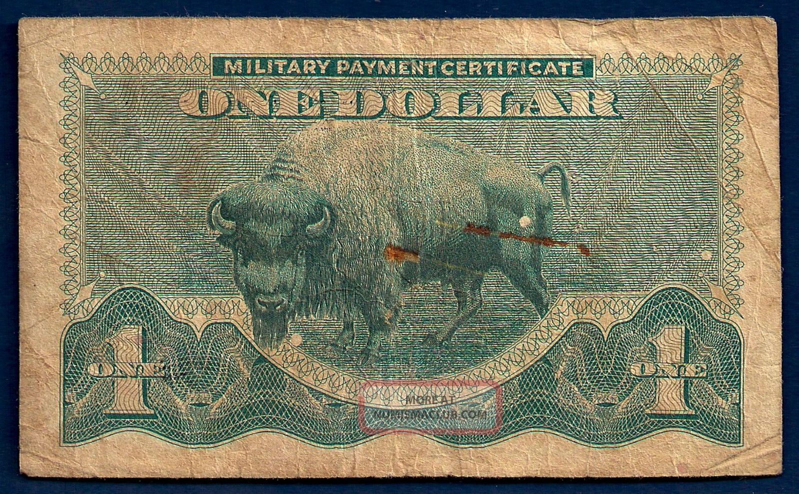 Us Military Payment 1 Dollar Nd1970 Ser 692 M95 Buffalo