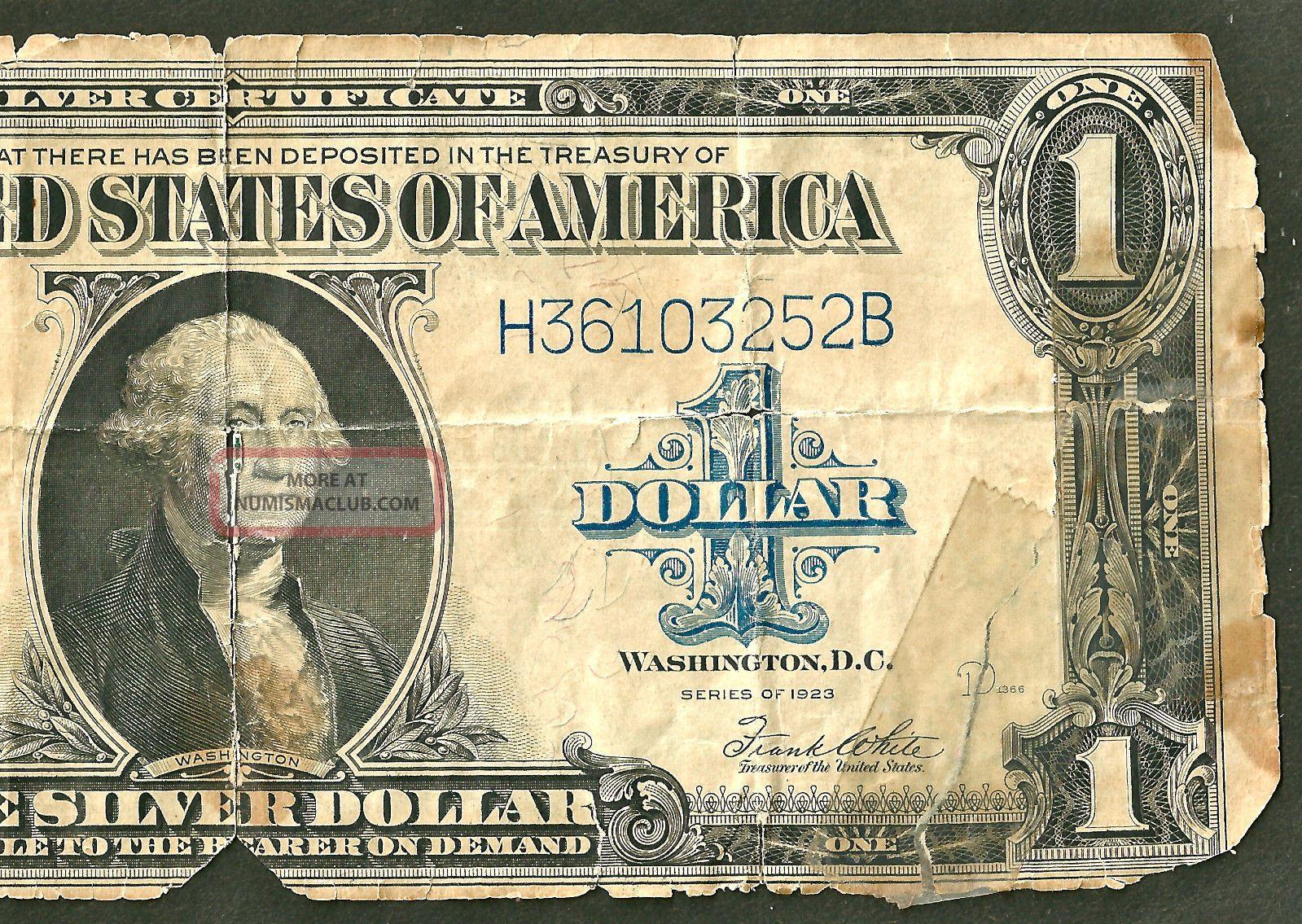 One Dollar Bill Silver Certificate Rare Old 1935 F U S Blue