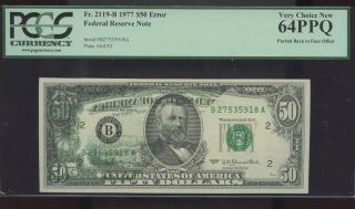 $50 1977 York Offset Pcgs 64ppq Spectacular photo