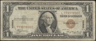 Series 1935 A $1 Overprint Hawaii Silver Certificate photo
