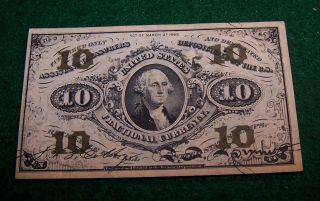 Fr.  1255 10 Cent Third Issue Fractional Currency photo