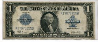 1923 $1 Large Size Silver Certificate - Vg/f photo