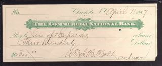 1887 The Commercial National Bank - Charlotte,  North Carolina photo