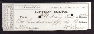 1862 Union Bank - Boston,  Mass photo