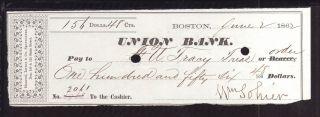1862 Union Bank - Boston,  Mass photo
