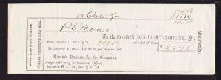 1873 The Boston Gas Light Company - Boston,  Mass photo