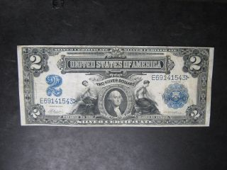 1899 $2 Silver Certificate - - Somewhat Scarce photo