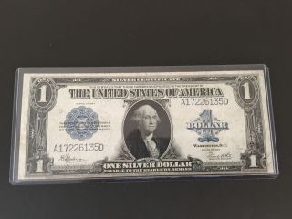 1923 Large Size $1 Dollar Bill Silver Certificate Very photo