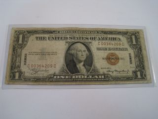 1935 $1 One Dollar Hawaii Silver Certificate 6022 photo