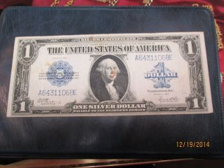 United States 1923 One Dollar Silver Certificate Large Size Note photo