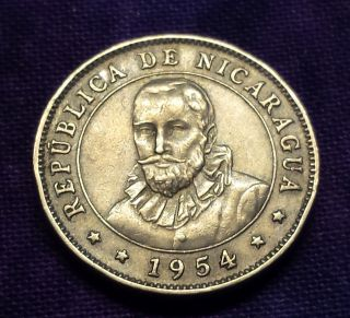 1954 Nicaragua 10 Centavos Km 17.  1 photo