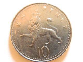 1996 British Ten (10) Pence Coin photo