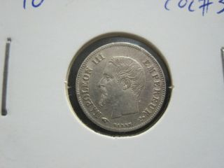 France 20 Centimes,  1860/50a,  Silver,  Km 778 - (ref:g6 48) photo