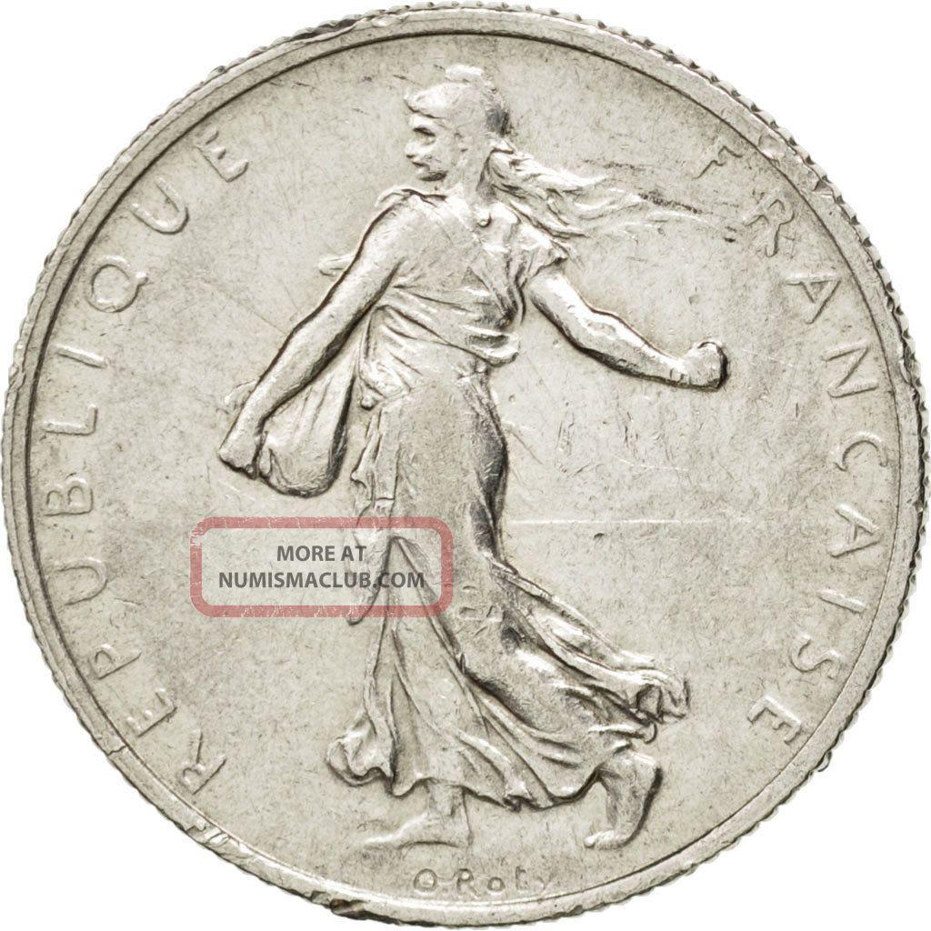 [ 28533] Iiième République,  2 Francs Semeuse 1918,  Km 845.  1 Europe photo