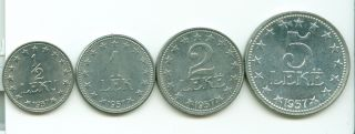Coin Albania 1957 Unc But In Some Small Parts Are Oxide photo