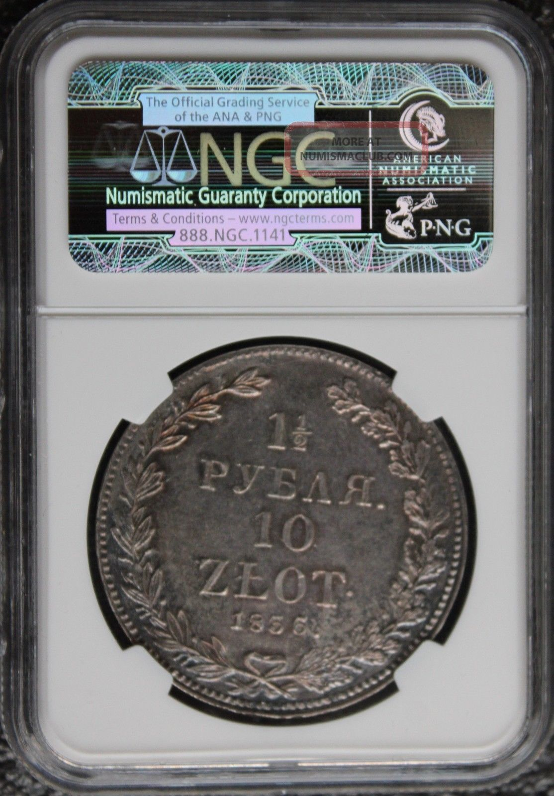 Russia 1 1/2 Rouble/10zlotych 1836ht Ngc Ms61 Nykolay I Extra Rare Coin Russia photo