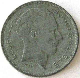 Belgium,  Coin,  5 Francs (5 Frank) 1945,  Top,  Scarce photo