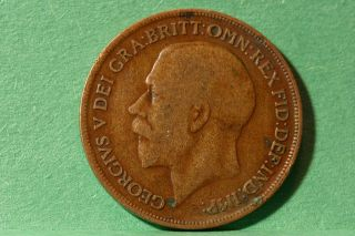 World Coin,  English Large Penny 1916.  Brz.  36 photo